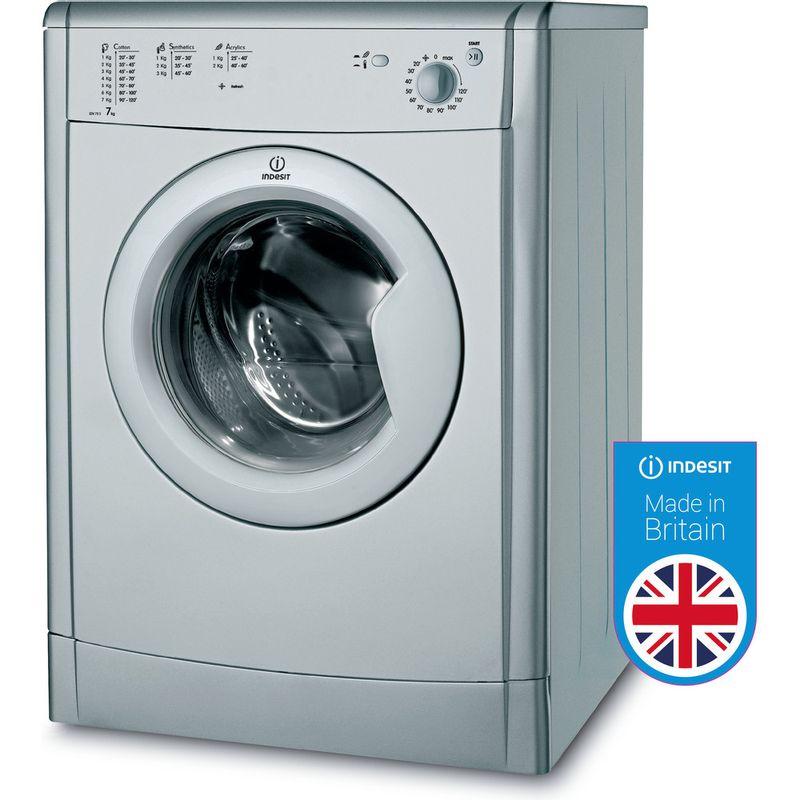 Indesit-Dryer-IDV-75-S--UK--Silver-Perspective