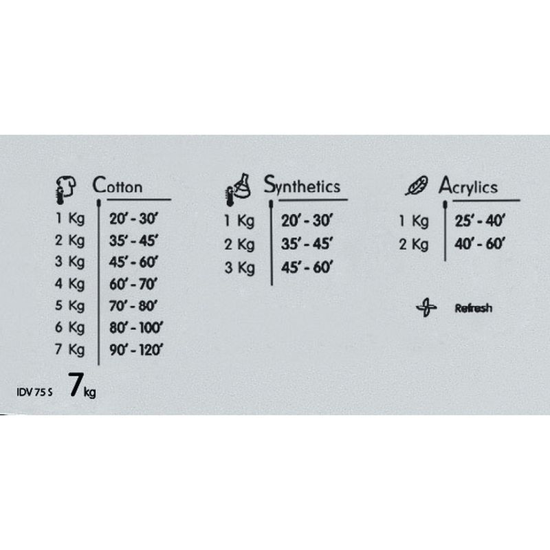 Indesit-Dryer-IDV-75-S--UK--Silver-Program