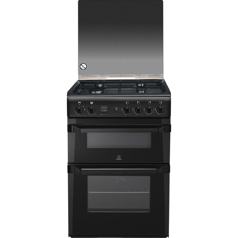 Indesit-Double-Cooker-ID60G2-A--Antracite-A--Enamelled-Sheetmetal-Frontal
