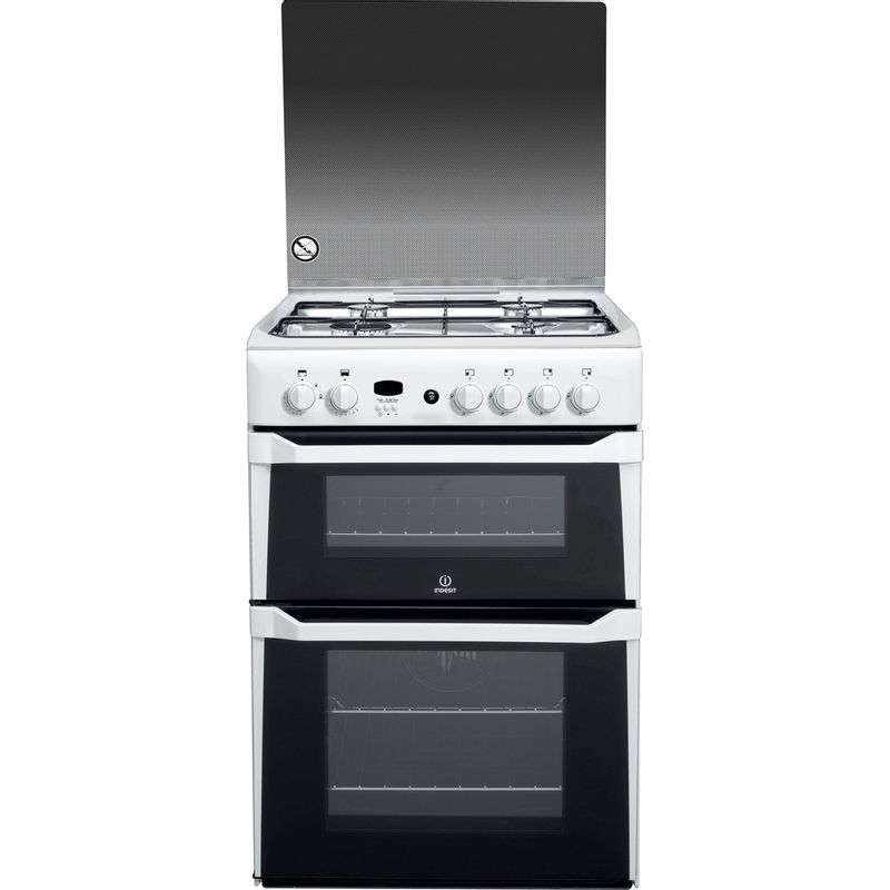 Indesit-Double-Cooker-ID60G2-W--White-A--Enamelled-Sheetmetal-Frontal