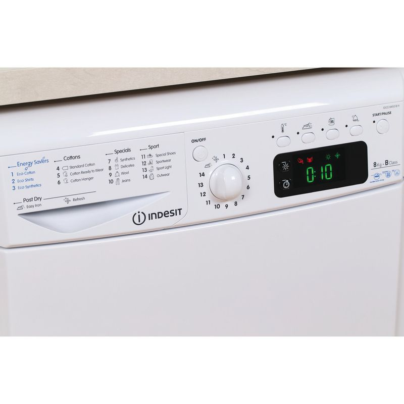 Indesit-Dryer-IDCE-8450-B-H--UK--White-Lifestyle-control-panel