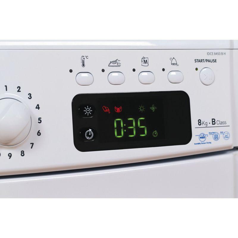 Indesit-Dryer-IDCE-8450-B-H--UK--White-Control-panel