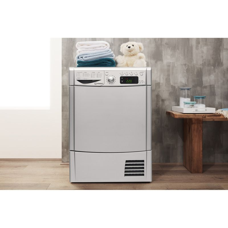 Indesit-Dryer-IDCE-8450-BS-H--UK--Silver-Lifestyle-frontal