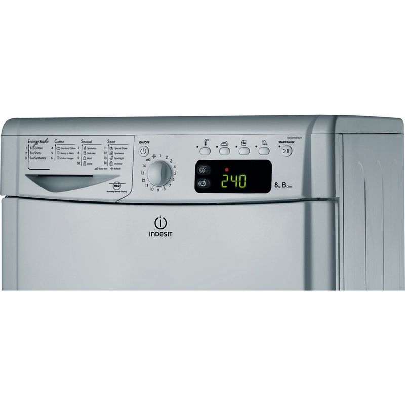 Indesit-Dryer-IDCE-8450-BS-H--UK--Silver-Control-panel