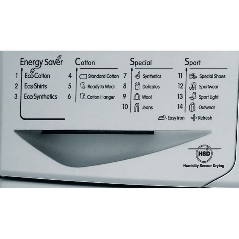Indesit-Dryer-IDCE-8450-BS-H--UK--Silver-Program