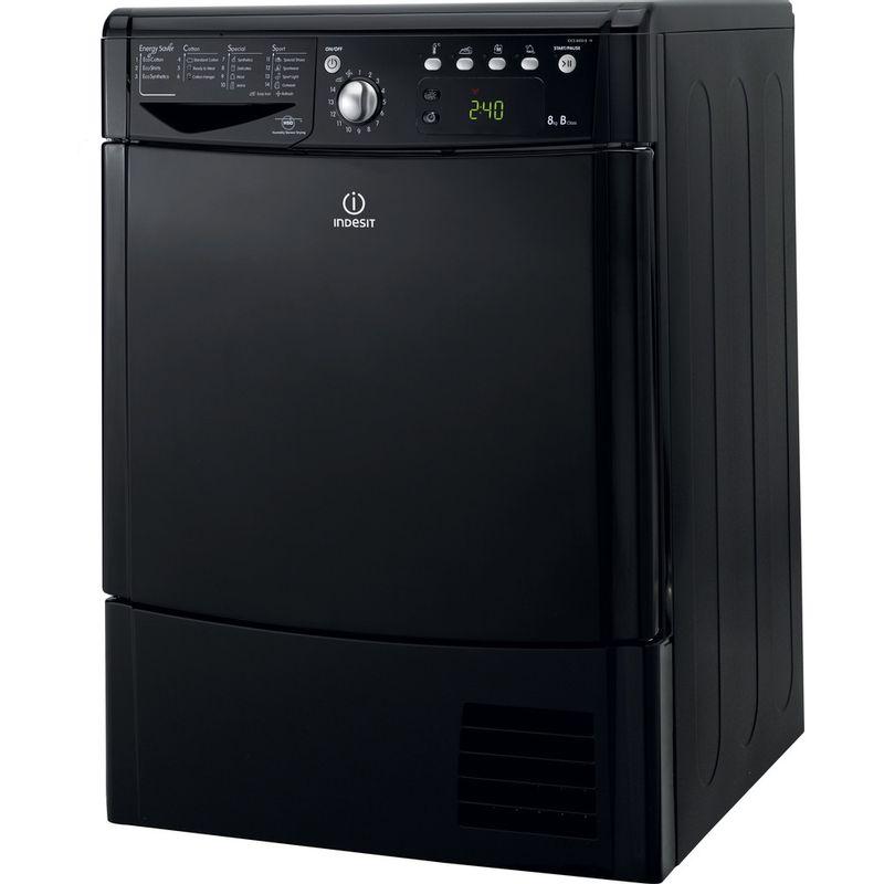 Indesit-Dryer-IDCE-8450-BK-H--UK--Black-Perspective