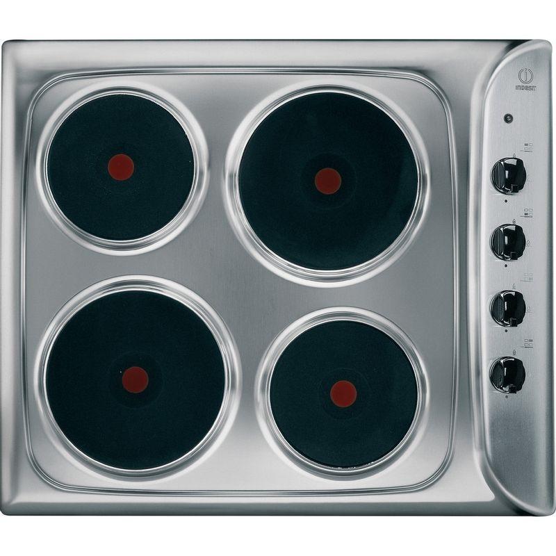 Indesit-HOB-PIM-604--IX--GB-Inox-Solid-Plate-Frontal