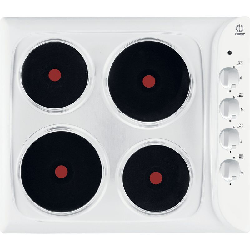 Indesit-HOB-PIM-604--WH--GB-White-Solid-Plate-Frontal