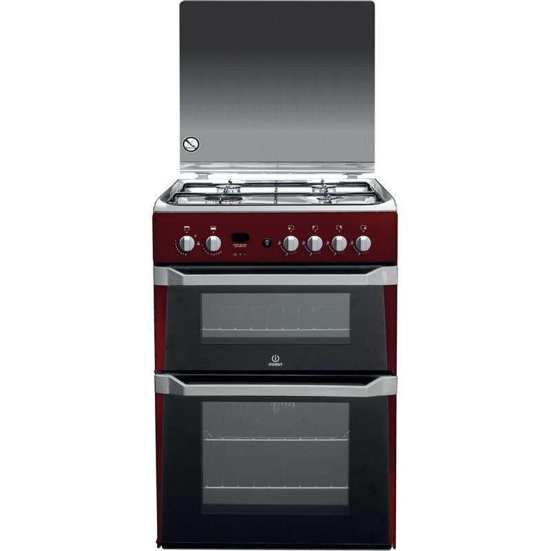 Indesit-Double-Cooker-ID60G2-R--UK-Red-A--Enamelled-Sheetmetal-Frontal