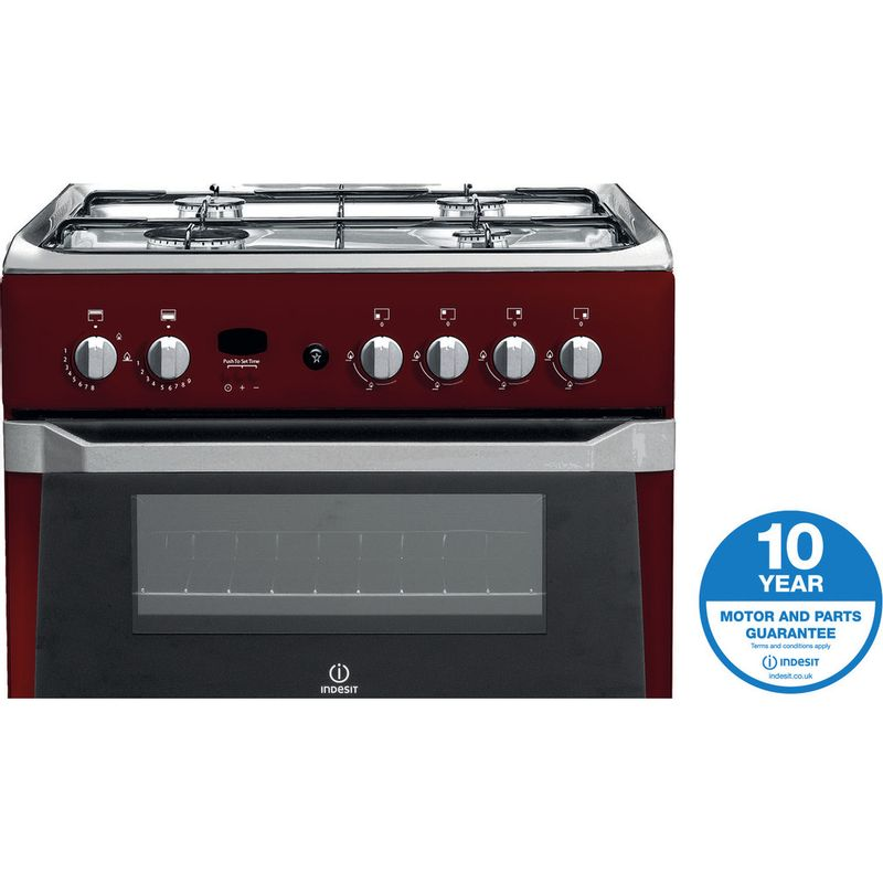 Indesit-Double-Cooker-ID60G2-R--UK-Red-A--Enamelled-Sheetmetal-Award