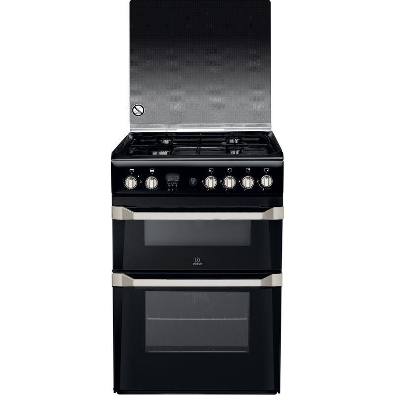 Indesit-Double-Cooker-ID60G2-K--UK-Black-A--Enamelled-Sheetmetal-Frontal