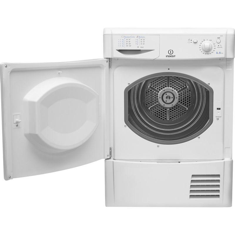 Indesit-Dryer-IDC-8T3-B--UK--White-Frontal-open