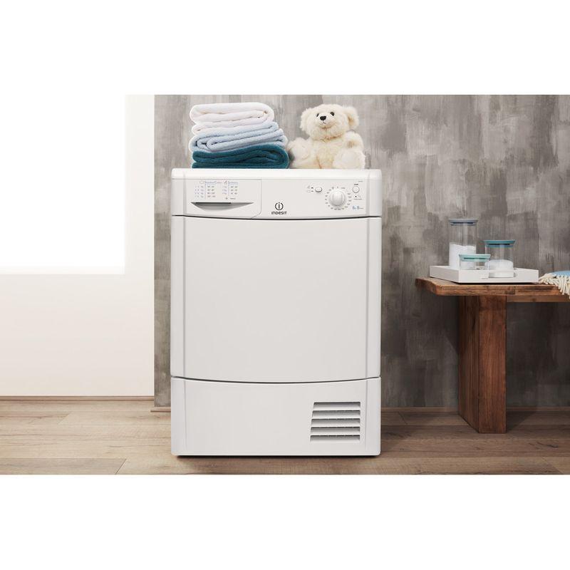 Indesit-Dryer-IDC-8T3-B--UK--White-Lifestyle-frontal