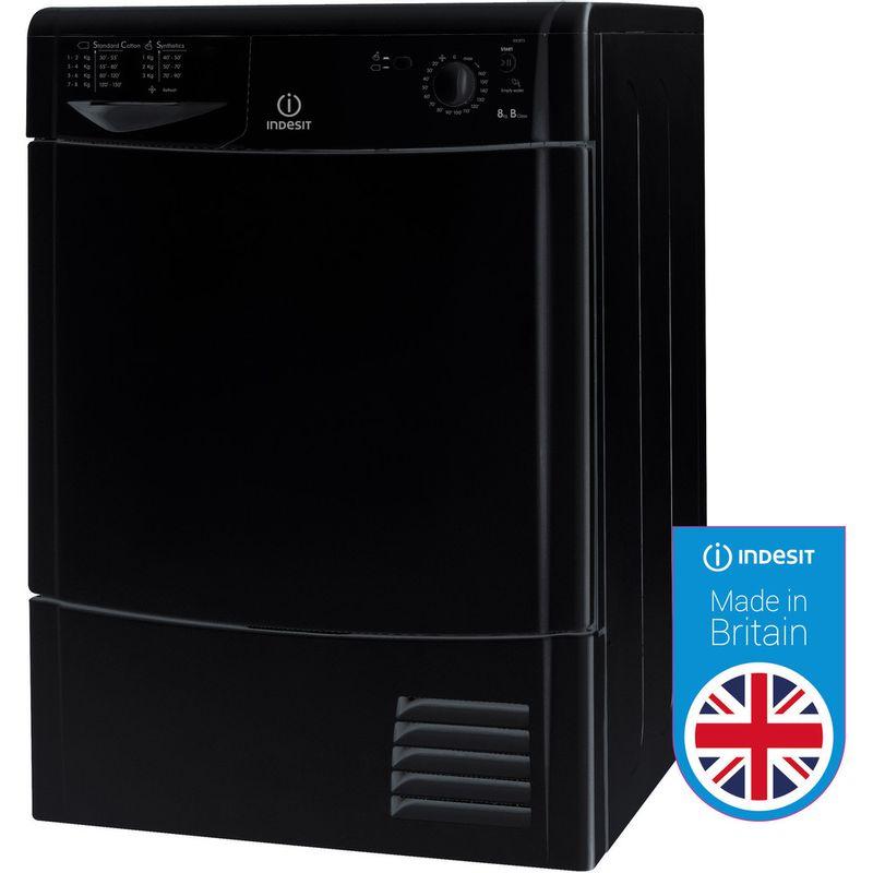 Indesit-Dryer-IDC-8T3-B-K--UK--Black-Perspective