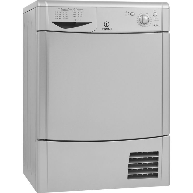 Indesit-Dryer-IDC-8T3-B-S--UK--Silver-Perspective