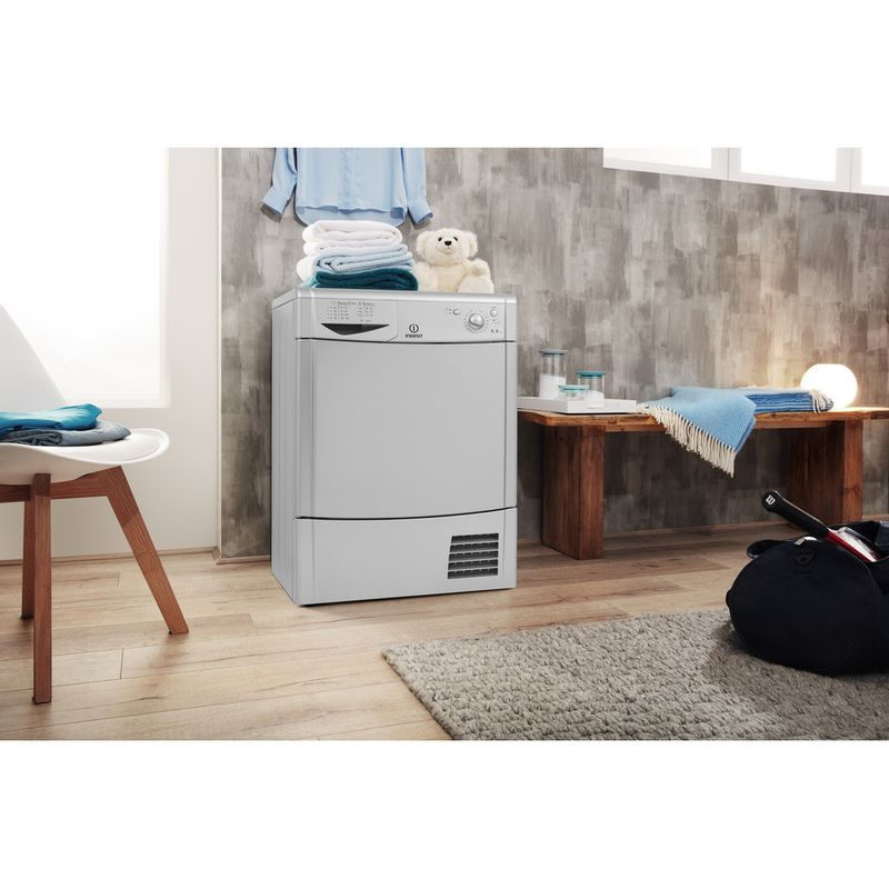 Indesit-Dryer-IDC-8T3-B-S--UK--Silver-Lifestyle-perspective