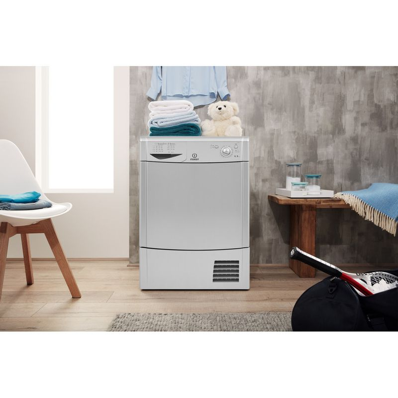 Indesit-Dryer-IDC-8T3-B-S--UK--Silver-Lifestyle-frontal