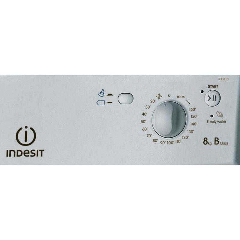 Indesit-Dryer-IDC-8T3-B-S--UK--Silver-Control-panel