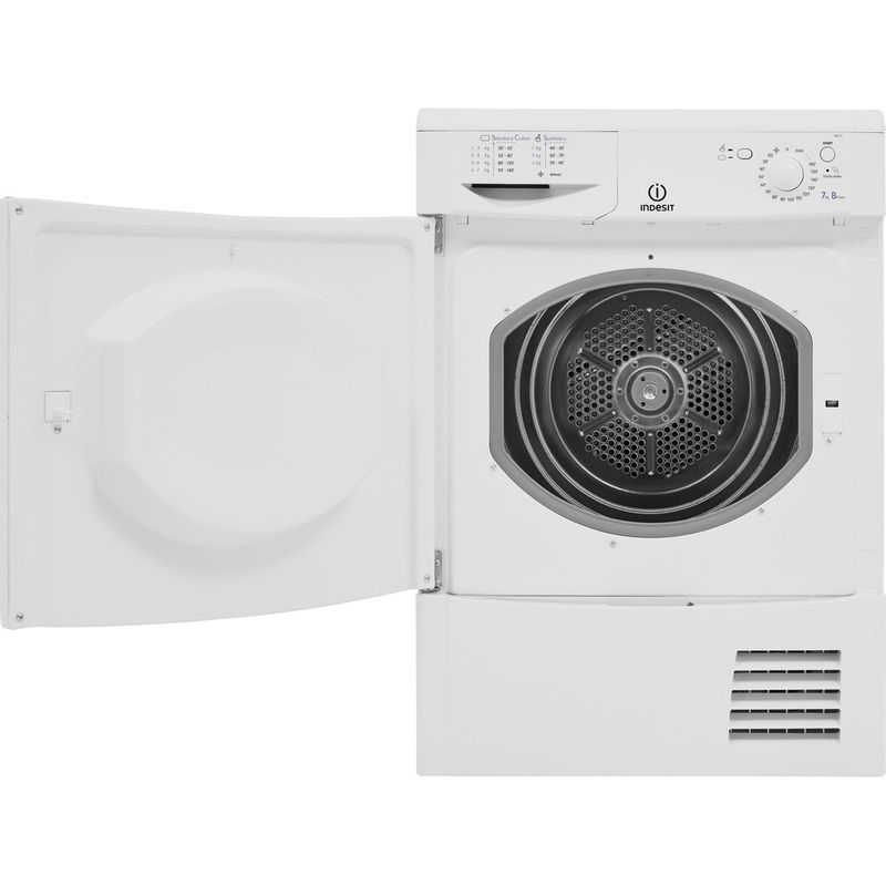 Indesit-Dryer-IDC-75-B--UK--White-Frontal-open