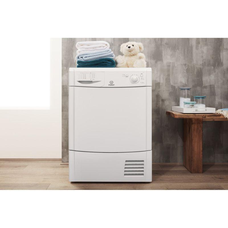 Indesit-Dryer-IDC-75-B--UK--White-Lifestyle-frontal