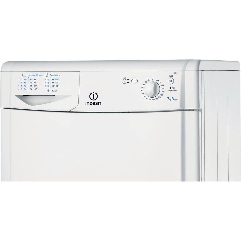 Indesit-Dryer-IDC-75-B--UK--White-Control-panel