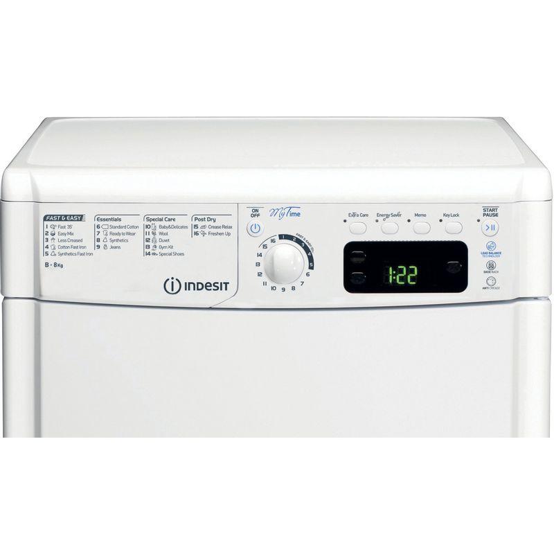 Indesit-Dryer-EDCE-85-B-TM--UK--White-Control-panel