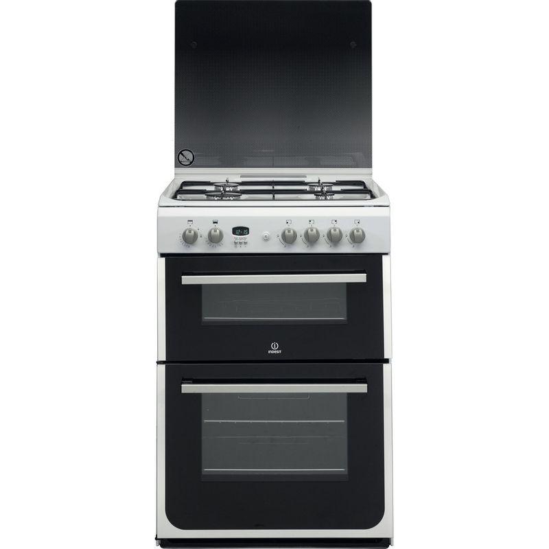 Indesit-Double-Cooker-DD60G2CG-W--UK-White-A--Enamelled-Sheetmetal-Frontal
