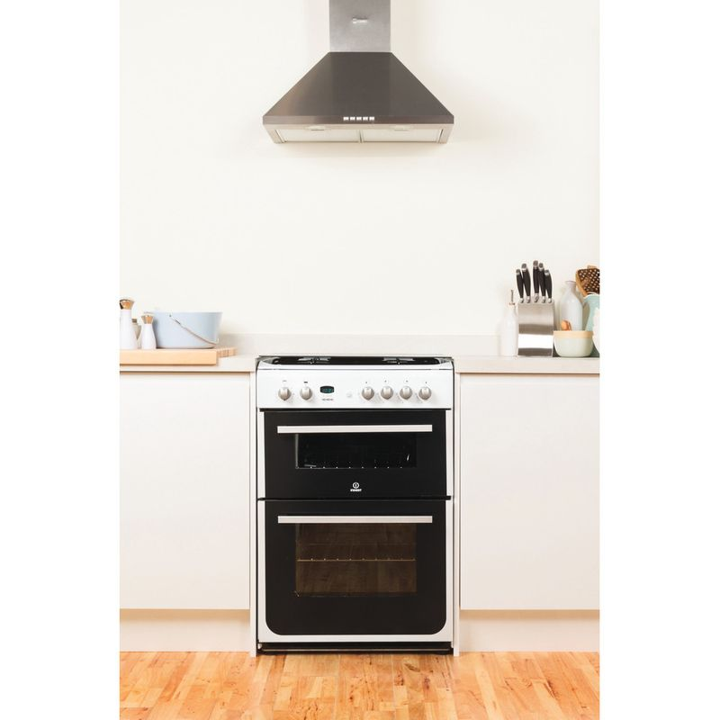 Indesit-Double-Cooker-DD60G2CG-W--UK-White-A--Enamelled-Sheetmetal-Lifestyle_Frontal