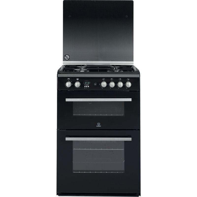 Indesit-Double-Cooker-DD60G2CG-K--UK-Black-A--Enamelled-Sheetmetal-Frontal