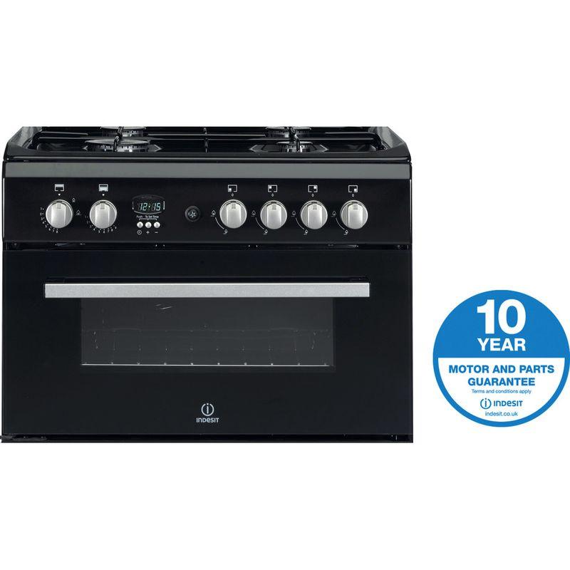 Indesit-Double-Cooker-DD60G2CG-K--UK-Black-A--Enamelled-Sheetmetal-Award