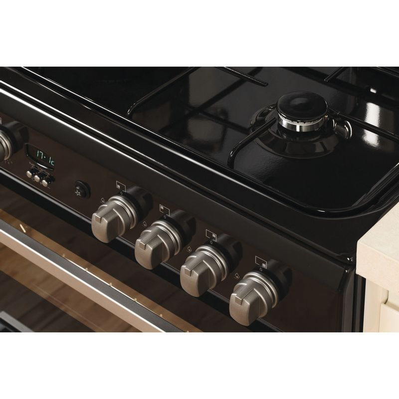 Indesit-Double-Cooker-DD60G2CG-K--UK-Black-A--Enamelled-Sheetmetal-Lifestyle_Control_Panel
