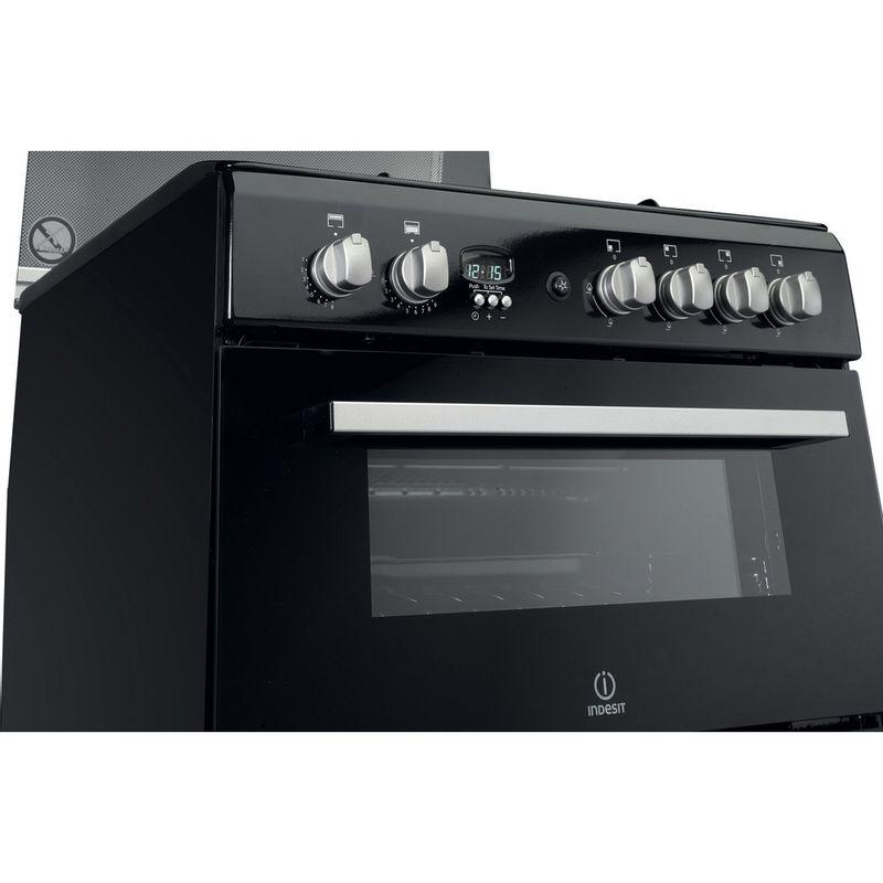 Indesit-Double-Cooker-DD60G2CG-K--UK-Black-A--Enamelled-Sheetmetal-Control_Panel