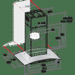 Indesit-HOOD-Built-in-IHGC-6.4-AM-X-Inox-Wall-mounted-Mechanical-Technical-drawing