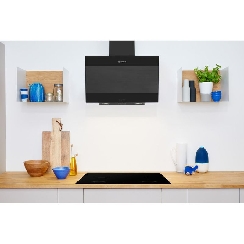 Indesit-HOOD-Built-in-IHVP-6.6-LM-K-Black-Wall-mounted-Mechanical-Lifestyle-frontal
