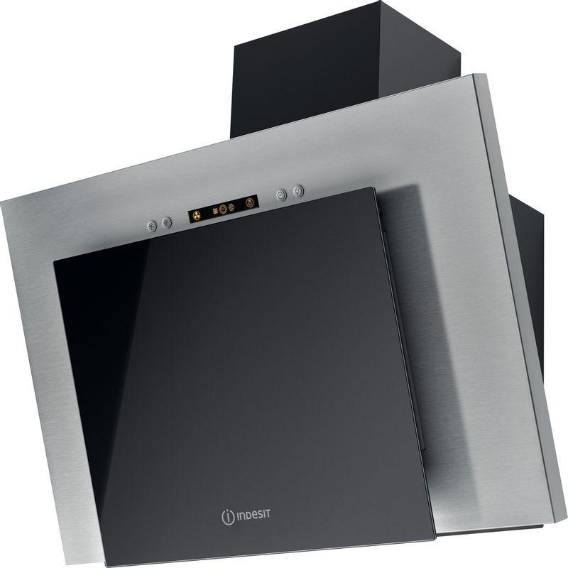 Indesit-HOOD-Built-in-IHVP-6.4-AL-K-Black-Wall-mounted-Mechanical-Perspective