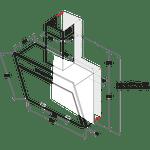 Indesit-HOOD-Built-in-IHVP-6.4-AL-K-Black-Wall-mounted-Mechanical-Technical-drawing