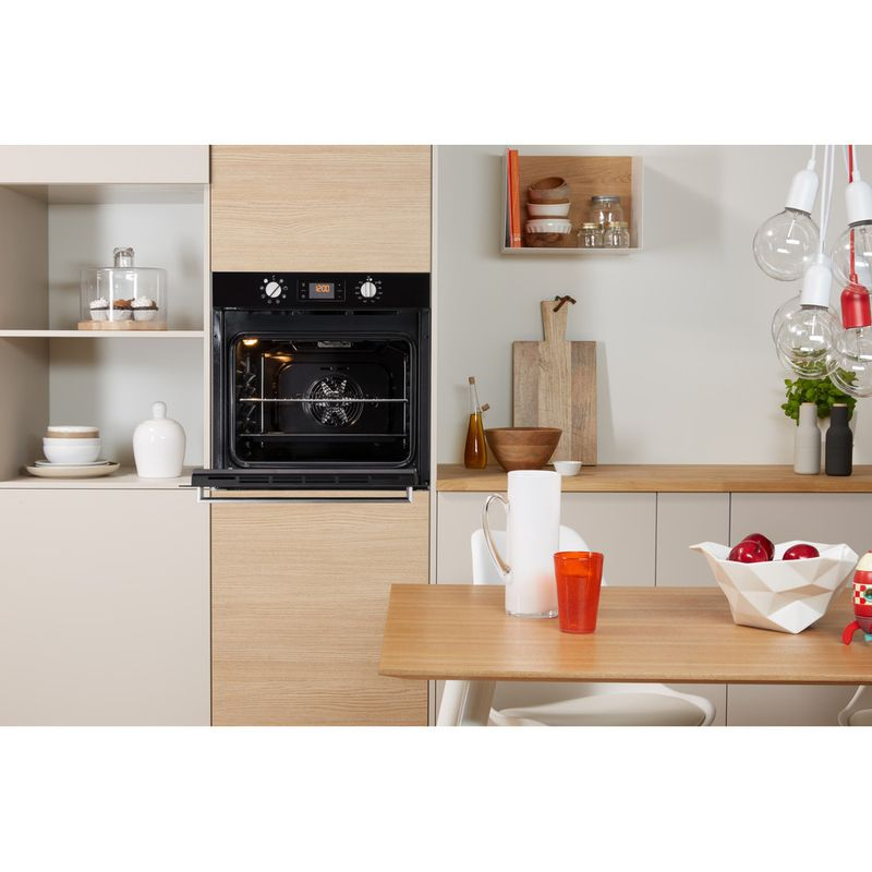 Indesit-OVEN-Built-in-IFW-6340-BL-UK-Electric-A-Lifestyle-frontal-open