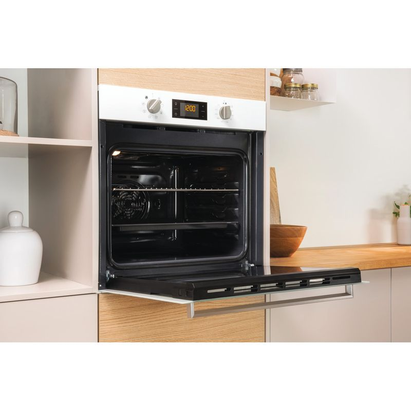 Indesit-OVEN-Built-in-IFW-6340-WH-UK-Electric-A-Lifestyle-perspective-open