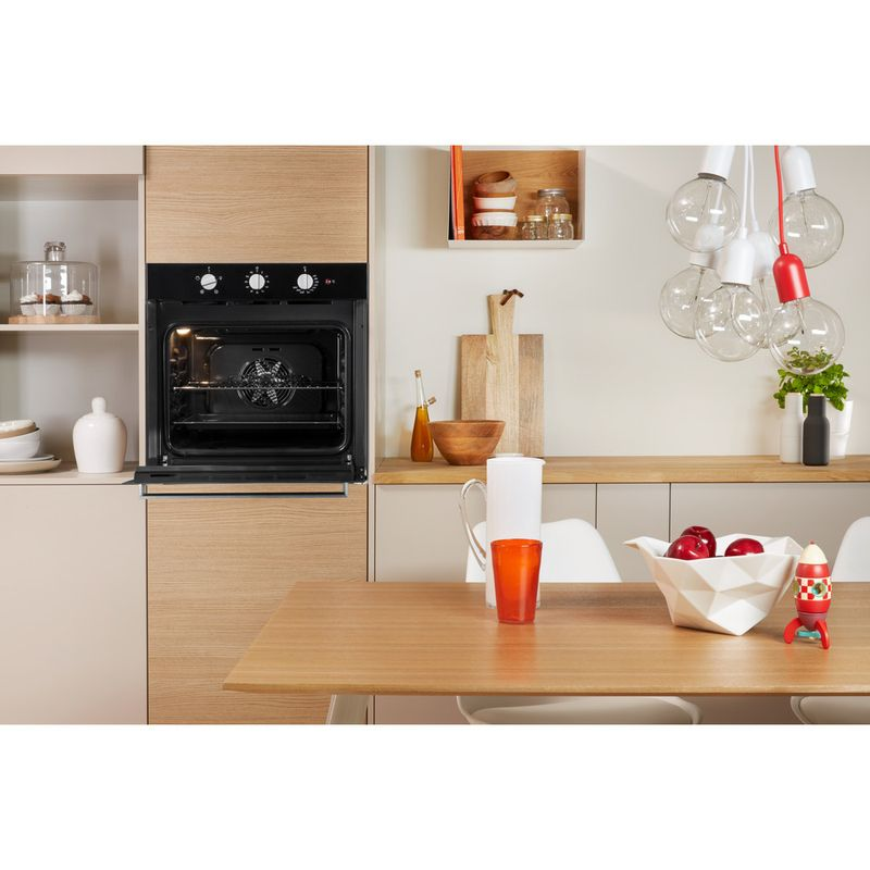 Indesit-OVEN-Built-in-IFW-6330-BL-UK-Electric-A-Lifestyle-frontal-open