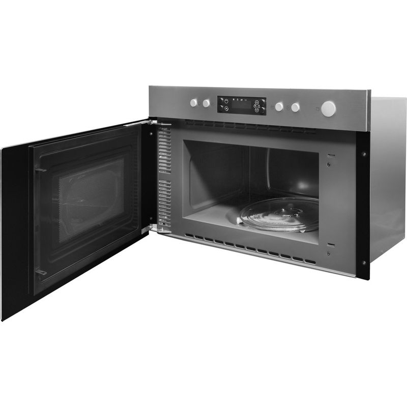 Indesit-Microwave-Built-in-MWI-5213-IX-UK-Stainless-steel-Electronic-22-MW-Grill-function-750-Perspective-open