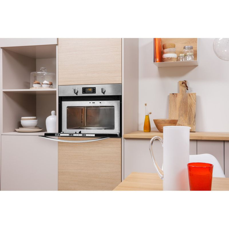 Indesit-Microwave-Built-in-MWI-3443-IX-UK-Stainless-steel-Electronic-40-MW-Grill-function-900-Lifestyle-perspective-open