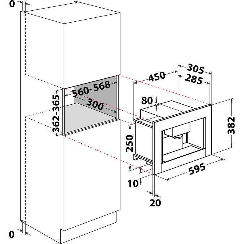 Indesit-Built-in-coffee-machine-CMI-5038-IX-Inox-Half-automatic-Technical-drawing