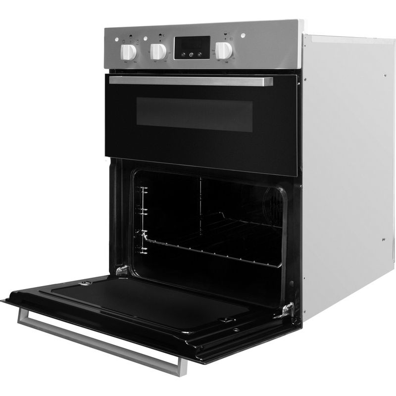 Indesit-Double-oven-IDU-6340-IX-Inox-B-Perspective-open
