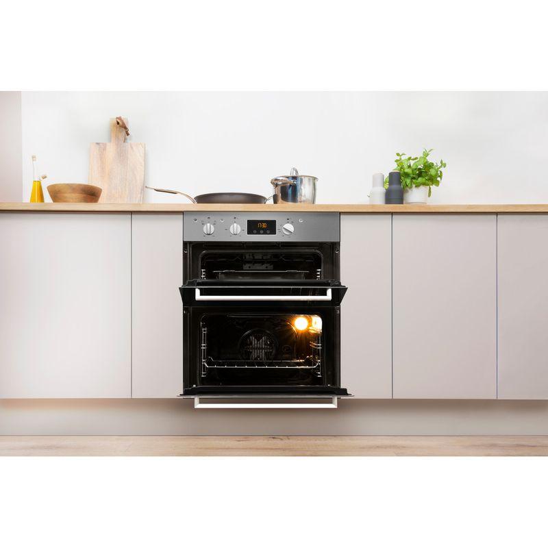 Indesit-Double-oven-IDU-6340-IX-Inox-B-Lifestyle-frontal-open