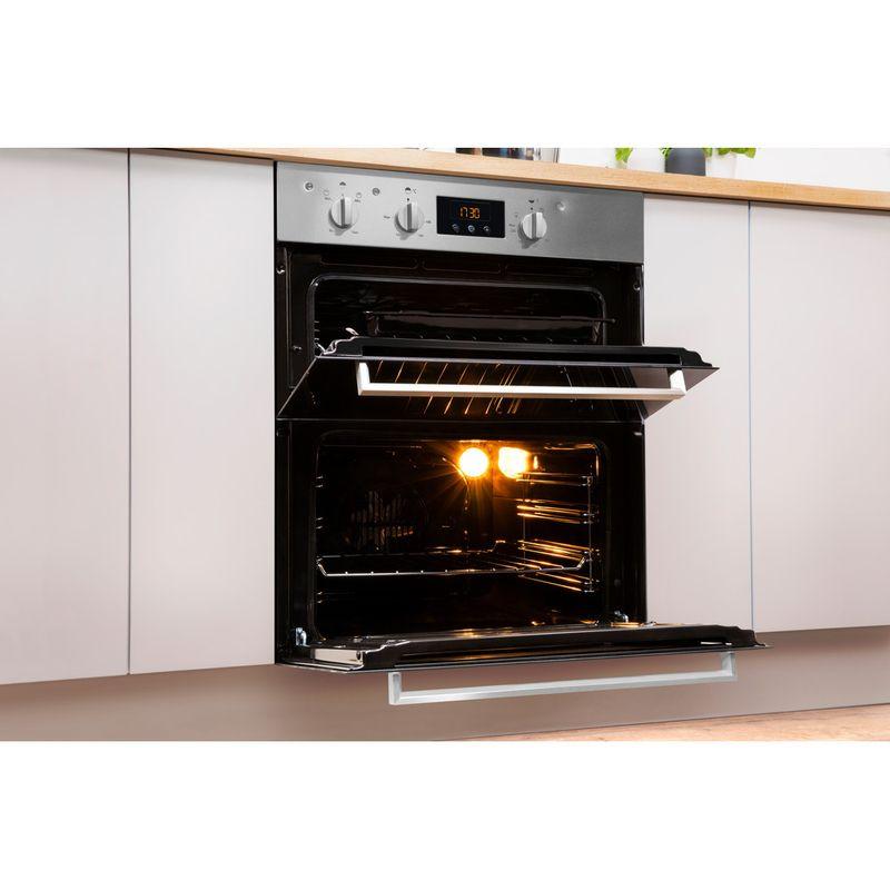 Indesit-Double-oven-IDU-6340-IX-Inox-B-Lifestyle-perspective-open