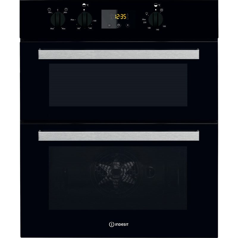 Indesit-Double-oven-IDU-6340-BL-Black-B-Frontal