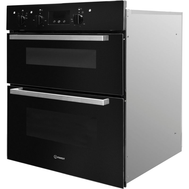 Indesit-Double-oven-IDU-6340-BL-Black-B-Perspective
