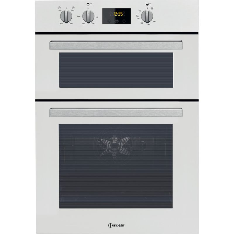 Indesit-Double-oven-IDD-6340-WH-White-A-Frontal