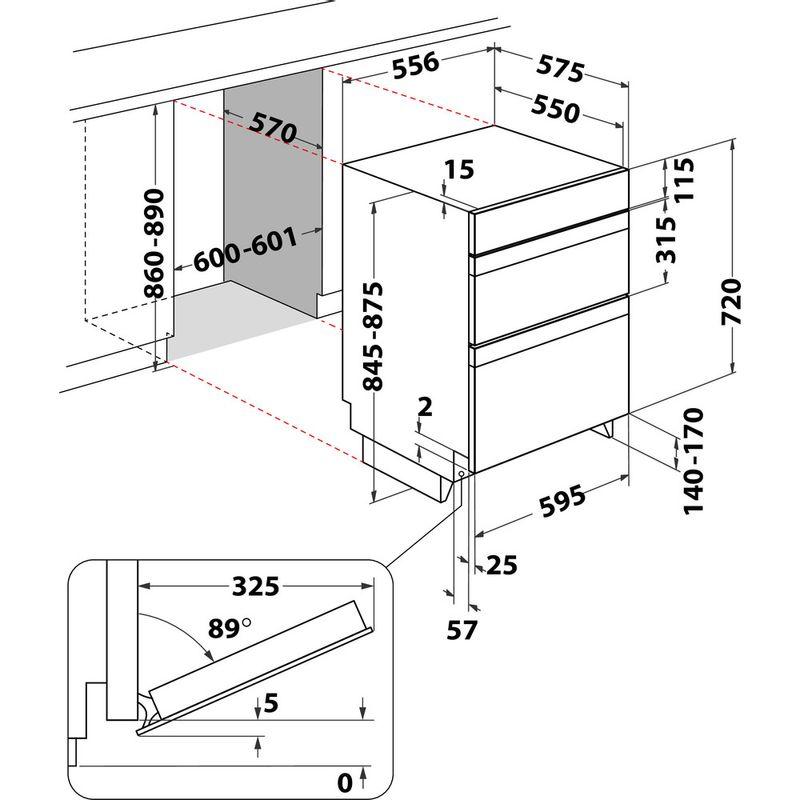 Indesit-Double-oven-DDU-5340-C-IX-Inox-B-Technical-drawing