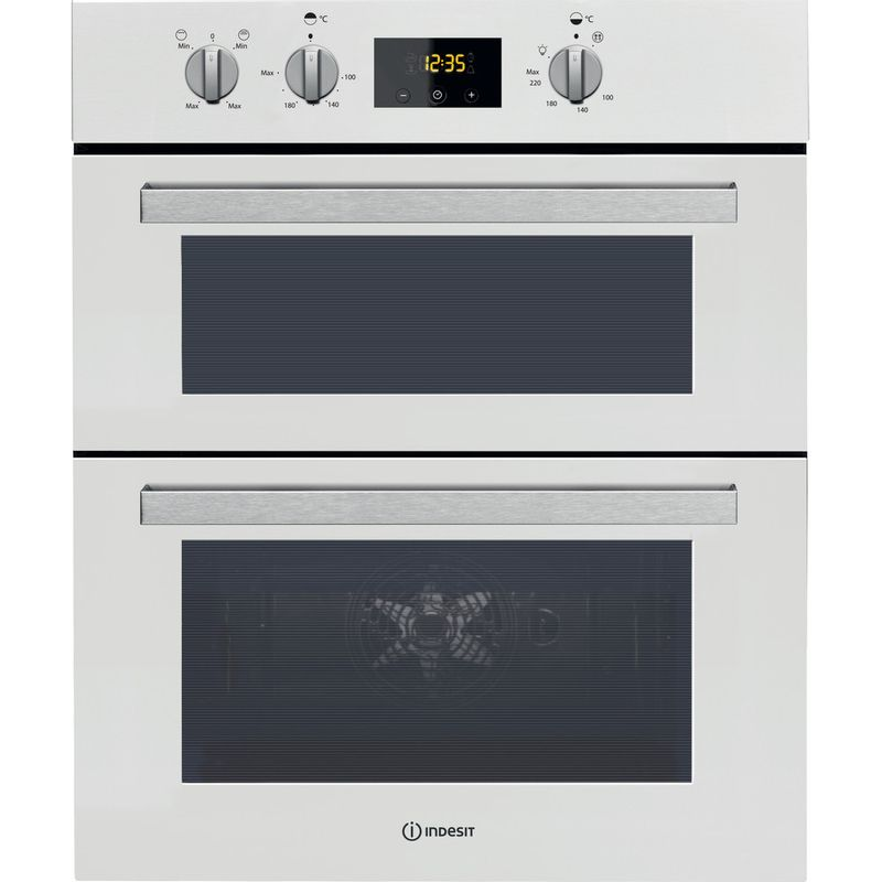 Indesit-Double-oven-IDU-6340-WH-White-B-Frontal